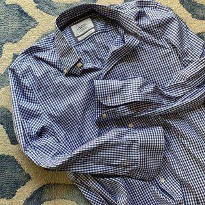CHARLES TYRWHITT Blue Gingham dress shirt